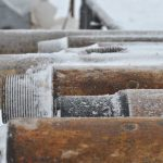 Бурильные трубы с монтированной меткой